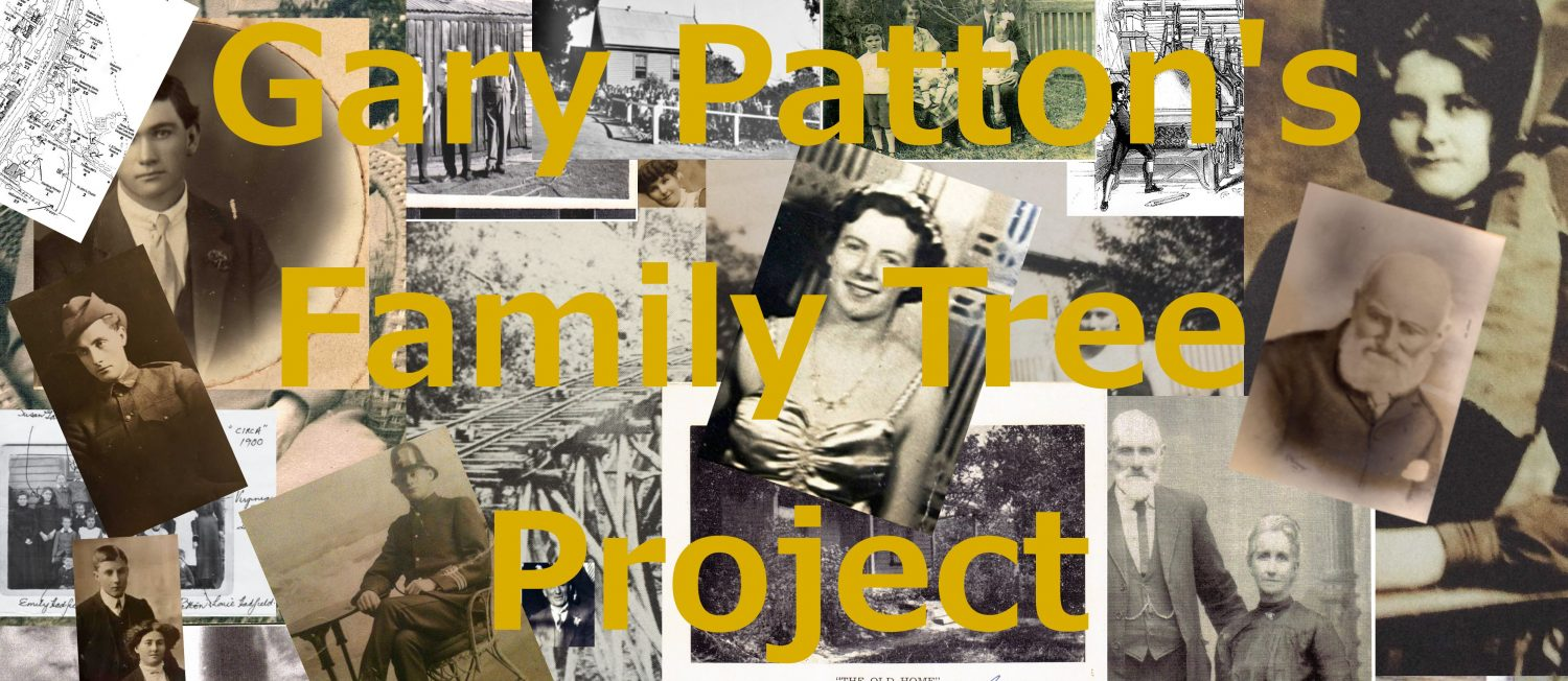 Gary Patton Family Tree Project